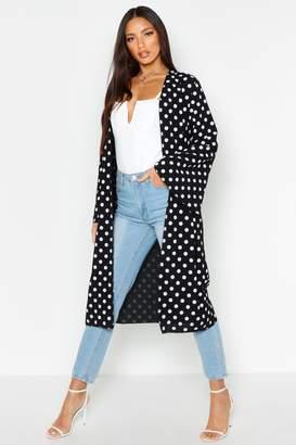 boohoo Polka Dot Maxi Kimono
