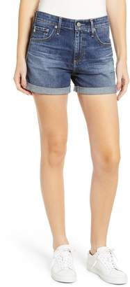 AG Jeans Hailey High Waist Cuff Denim Shorts
