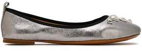 Marc Jacobs Embellished Metallic Leather Ballet Flats