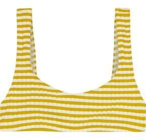 Solid & Striped The Elle Striped Ribbed Bikini Top