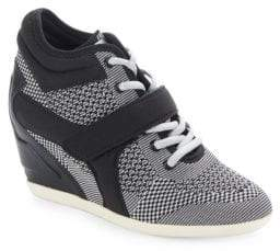 Ash Bebop Lace-Up Textured Sneakers