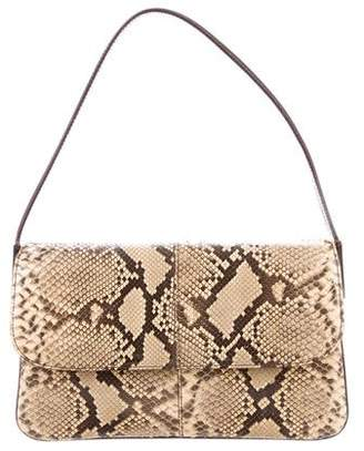 77187da30ed5 Pre-Owned at TheRealReal · Dolce   Gabbana Leather-Trimmed Python Bag