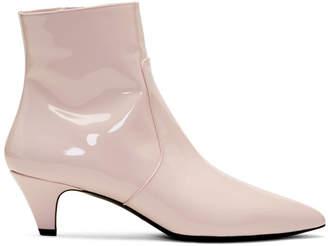 Calvin Klein Pink Patent Kat Boots