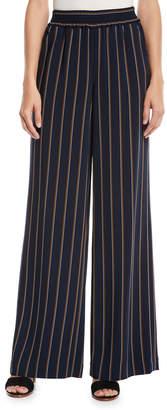 Lafayette 148 New York Hester Studio Stripe Drape Cloth Pants