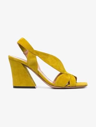 Dries Van Noten Yellow 80 Suede sandals