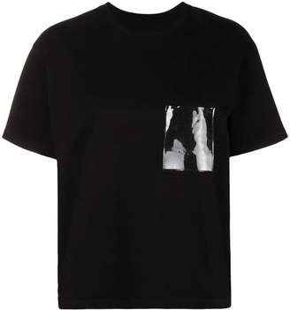 MM6 MAISON MARGIELA plastic pocket detail T-shirt