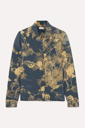 Dries Van Noten Cakool Floral-print Silk Crepe De Chine Shirt - Dark gray