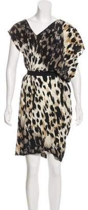 Robert Rodriguez Silk Animal Print Dress