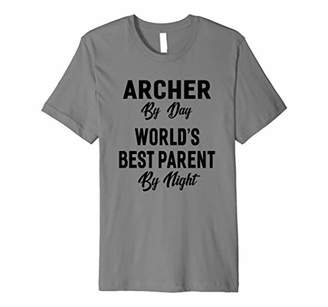 Mens Archer By Day World's Best Parent By Night T-shirt Unisex Gi