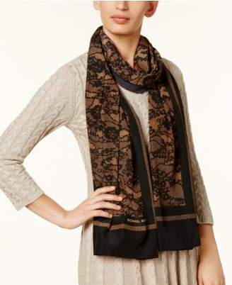 Michael Kors MICHAEL Delicate Lace-Print Wrap & Scarf in One