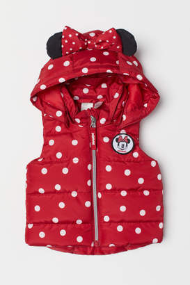 H&M Padded Vest with Hood - Red