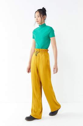 Urban Outfitters Satin Paperbag Puddle Pant