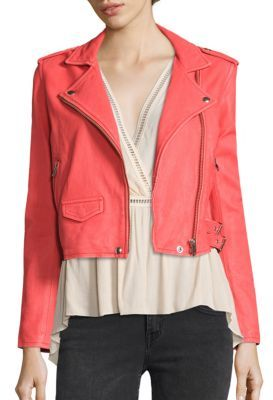 IRO Ashville Leather Moto Jacket $1,200 thestylecure.com
