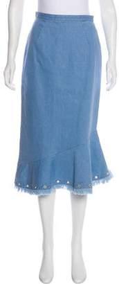 Saloni Denim Midi Skirt