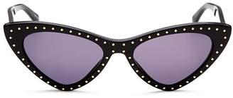 Moschino Women's 006 Slim Cat Eye Sunglasses, 52mm