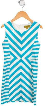 Nicole Miller Girls' Sleeveless Chevron Dress w/ Tags