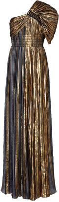 Peter Pilotto Striped Silk-Blend Chiffon One-Shoulder Gown