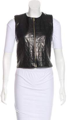 The Row Sleeveless Leather Vest