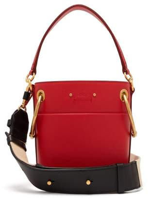 Chloé Roy Mini Leather Bucket Bag - Womens - Red