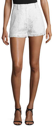 McQ Lace High-Rise Shorts, Ivory