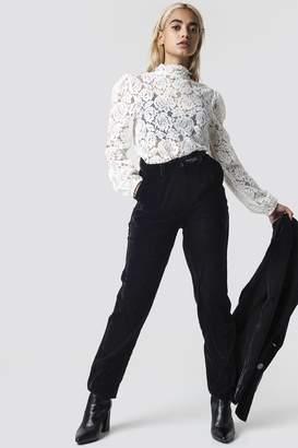 Na Kd Party Straight Velvet Suit Pants Black