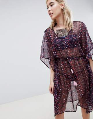 Pieces Geo-Tribal Print Beach Caftan