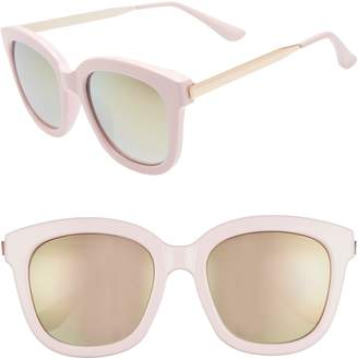 BP 58mm Mirrored Square Sunglasses