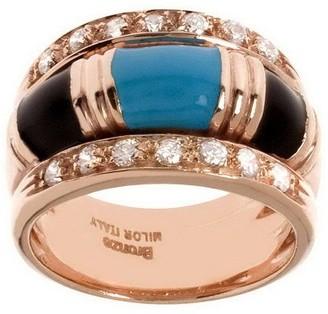 Bronzo Italia Enamel & Crystal Ring