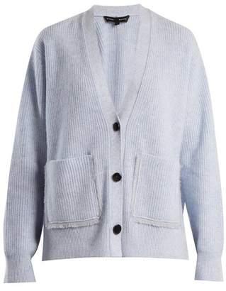 Proenza Schouler V-neck ribbed-knit cotton-blend cardigan