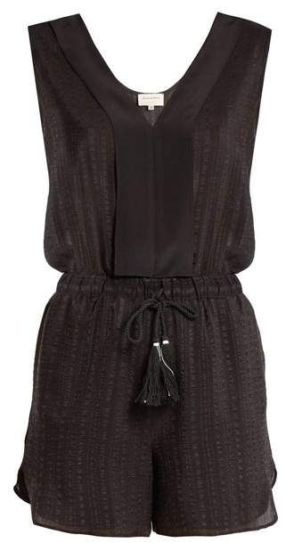 ZEUS + DIONE Ione textured-silk playsuit