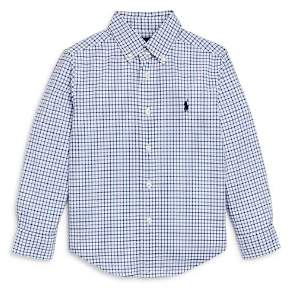 Ralph Lauren Boys' Windowpane Check Button-Down Shirt - Little Kid