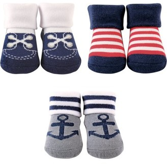 Luvable Friends Baby Boy Socks Giftset, 3-Pack