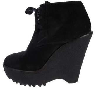 Burberry Suede Platform Boots