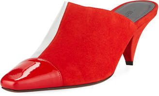 clear Neous Mixed Square-Toe Slide Mule