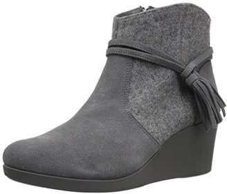 Crocs Women's Leigh Suede Mix Wedge Bootie Ankle