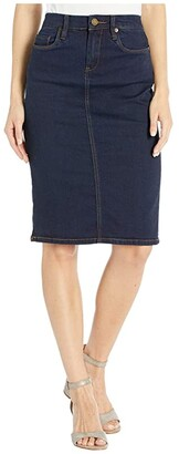 Blank NYC Denim Pencil Skirt in Crazy 8