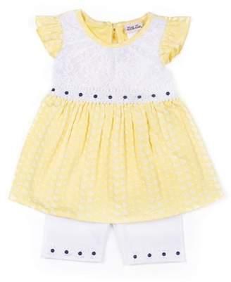 Little Lass Flutter Sleeve Babydoll Top & Bike Shorts, 2-Piece Outfit Set