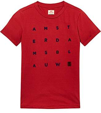 Scotch & Soda Shrunk Boy's Short Sleeve Artwork T-Shirt (Chilli Pepper Red 1762)