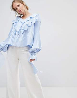 Style Mafia Frill Detail Woven Top $253 thestylecure.com