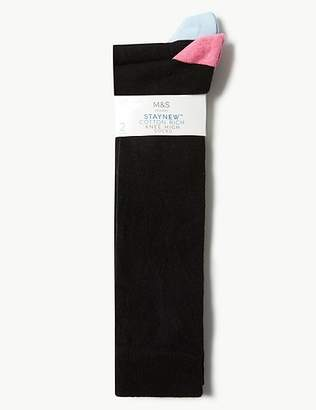 Marks and Spencer 2 Pair Pack Cotton Rich Knee High Socks
