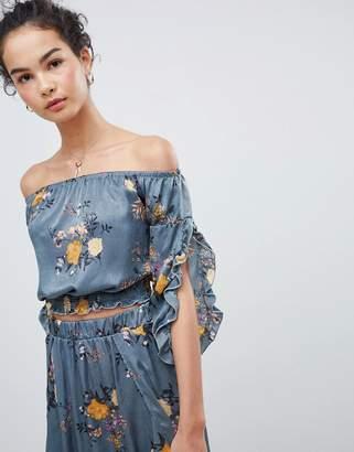 Gilli Off Shoulder Floral Top