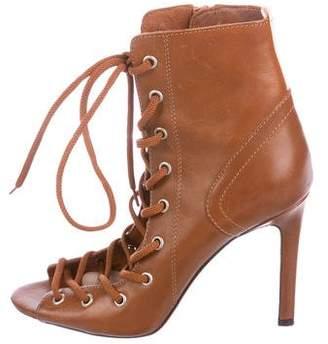 Sarah Jessica Parker Leather Lace-Up Boots
