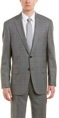 Hart Schaffner Marx New York Modern Fit Wool Suit With Flat Front Pant
