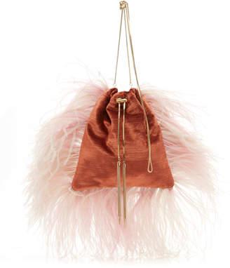 75cfc6e2e9eb Rosantica Calla Feather Accented Fabric Bag