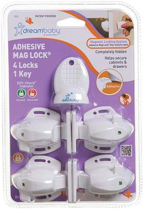 Dream Baby Dreambaby Adhesive Mag Lock With 1 Key (Set of 4)