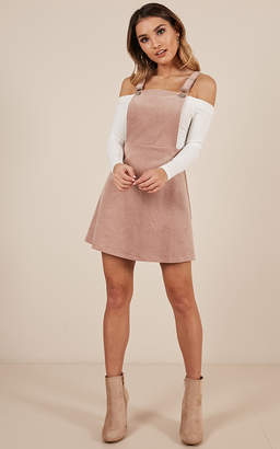 Showpo Thats What I Like Pinafore Dress In blush - 8 (S) Dresses