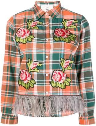5 Progress embellished plaid shirt