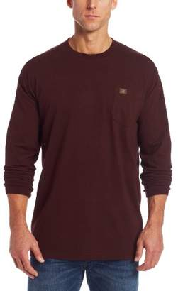 Wrangler Riggs Workwear Men's Big & Tall Long Sleeve Pocket T- Shirt