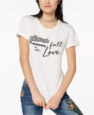 Almost Famous Juniors' Embellished T-Shirt