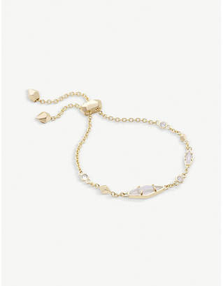 Kendra Scott Deb 14ct gold-plated and cubic zirconia chain bracelet